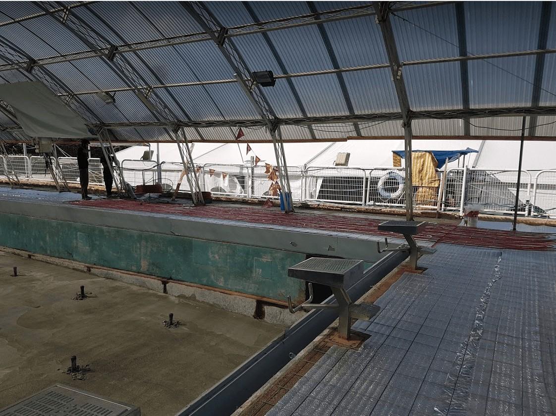 חימום מוסדי - בריכת שחייה בקאנטרי קלאב